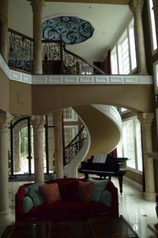 Metal Balustrade Curved Stairways